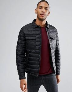 Стеганая куртка Threadbare - Черный