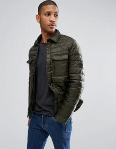 Стеганая куртка Threadbare - Зеленый