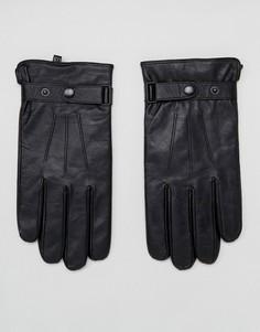 Классические черные кожаные перчатки Peter Werth - Черный