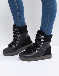 Водонепроницаемые походные ботинки со шнуровкой UGG Viki - Черный