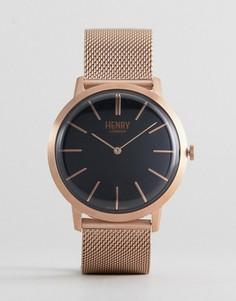 Золотисто-розовые часы Henry London - Золотой