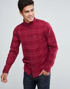 Красная рубашка из поплина в однотонную клетку Hollister - Красный