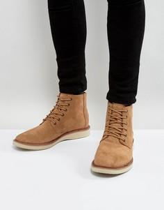 Непромокаемые замшевые ботинки на шнуровке TOMS Porter - Рыжий