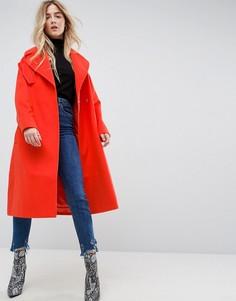 Пальто оверсайз с карманами ASOS - Оранжевый