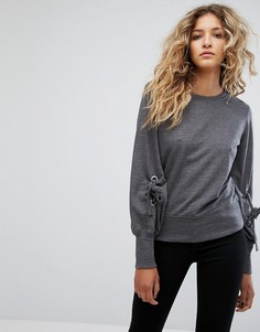 Свитшот с завязками Rock & Religion Elle - Серый
