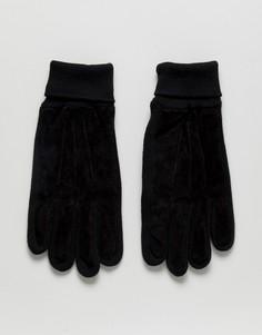 Замшевые перчатки Boardmans - Черный