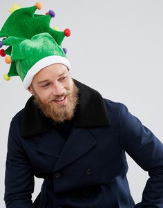 Шапка в форме новогодней елки Boardmans - Зеленый