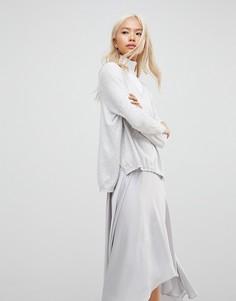 Джемпер с V-образным вырезом Subtle Luxury - Серый