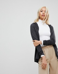 Кардиган на молнии с капюшоном Subtle Luxury - Серый