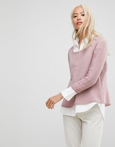 Кашемировый джемпер с рукавами реглан Subtle Luxury - Розовый