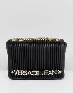 Плиссированная сумка через плечо Versace Jeans - Черный