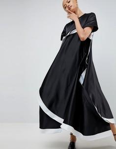Платье с асимметричным подолом ASOS WHITE - Черный