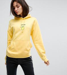 Оверсайз-худи с вышивкой Adolescent Clothing - Желтый