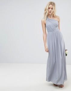 Платье макси на одно плечо ASOS WEDDING - Серый