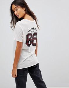 Белая футболка в клетку Vans Sport - Белый