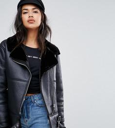 Куртка-авиатор с пряжками Missguided - Черный