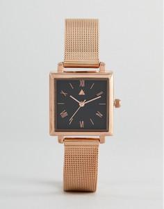 Часы цвета розового золота с квадратным циферблатом ASOS - Медный