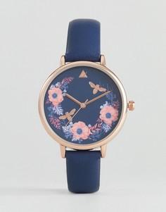 Часы с цветочным рисунком ASOS - Темно-синий