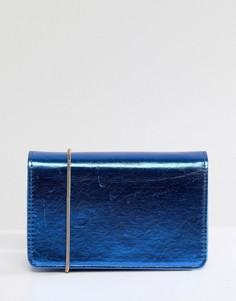 Сумка через плечо с ремешком-цепочкой Miss Selfridge - Синий