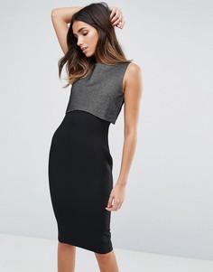 Платье-футляр с накладкой металлик Vesper - Мульти