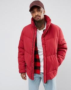 Красная дутая оверсайз-куртка ASOS - Красный
