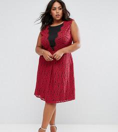 Приталенное кружевное платье Praslin - Красный
