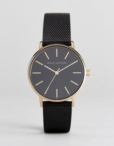 Часы с черным кожаным ремешком Armani Exchange AX5548 - Черный