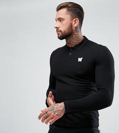 Черная обтягивающая футболка-поло Good For Nothing - Черный