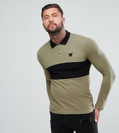 Обтягивающая рубашка регби цвета хаки Good For Nothing - Зеленый