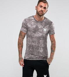 Обтягивающая футболка в светло-серую полоску Good For Nothing - Светло-бежевый