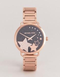 Часы цвета розового золота Michael Kors MK3795 Portia - Золотой