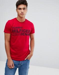 Красная футболка с логотипом Tommy Hilfiger Denim - Красный