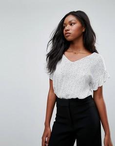 Блузка с рюшами на рукавах Soaked In Luxury - Мульти