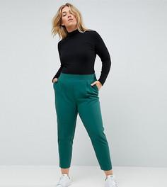 Суженные книзу брюки с завышенной талией ASOS CURVE - Зеленый
