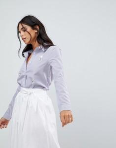 Рубашка с нашивками The English Factory - Синий