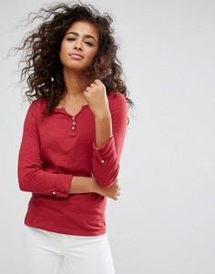 Топ с пуговицами спереди Esprit - Красный