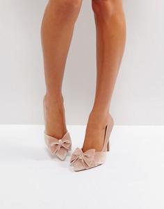 Туфли-лодочки с бантиками ASOS PRETTY - Розовый