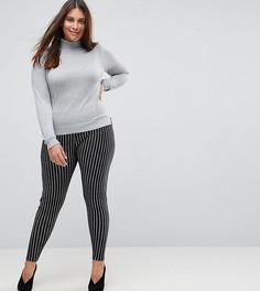 Облегающие брюки в полоску ASOS CURVE - Мульти