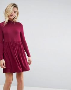 Свободное платье с воротником поло ASOS - Красный
