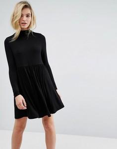 Свободное платье с воротником поло ASOS - Черный