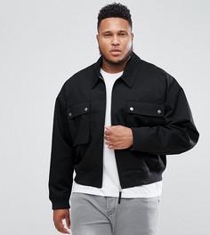 Черная оверсайз-куртка Харрингтон ASOS PLUS - Черный