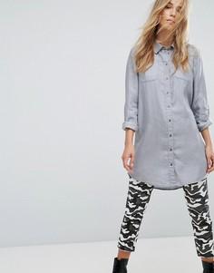 Длинная джинсовая рубашка Only Mia New - Серый