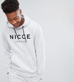 Худи серого цвета с крупным логотипом Nicce London TALL - Серый