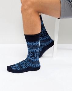 Толстые носки с добавлением хлопка и кашемира BOSS By Hugo Boss - Синий