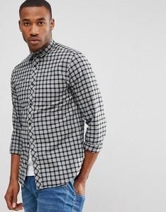 Рубашка узкого кроя в клетку Jack & Jones Core - Черный