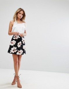 Мини-юбка с цветочным принтом River Island - Мульти