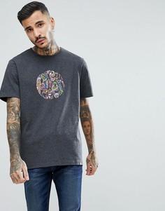 Серая футболка с логотипом пейсли Pretty Green - Серый
