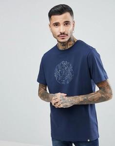 Темно-синяя футболка с логотипом пейсли Pretty Green - Темно-синий