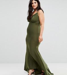Платье макси Club L Plus - Зеленый
