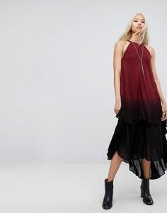 Платье макси с принтом тай-дай Religion - Красный